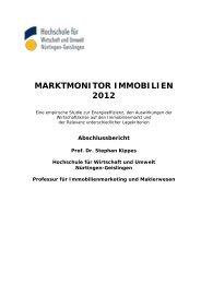 MARKTMONITOR IMMOBILIEN 2012