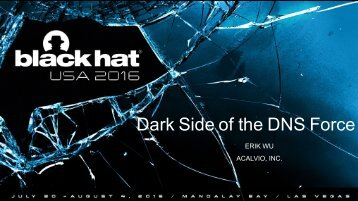 Dark Side of the DNS Force