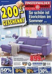 Finsterwalder Möbelmarkt: So schön ist Einrichten im Sommer!