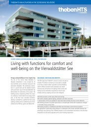 Living with functions for comfort and - Theben
