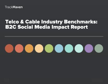 Telco & Cable Industry Benchmarks B2C Social Media Impact Report