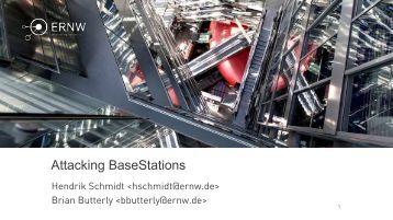 Attacking BaseStations
