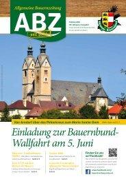 Allgemeine Bauernzeitung  - Ausgabe 01 - 2016 (Kärntner Bauernbund)