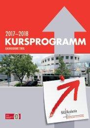Kursprogramm 2017-18 Bauakademie Tirol