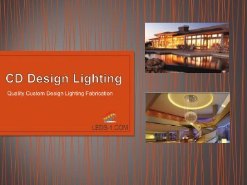 5.8.16  CD Design Lighting Custom Lighting
