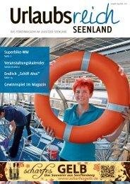 Ferienmagazin Urlaubsreich Seeland, Ausgabe August bis September 2016