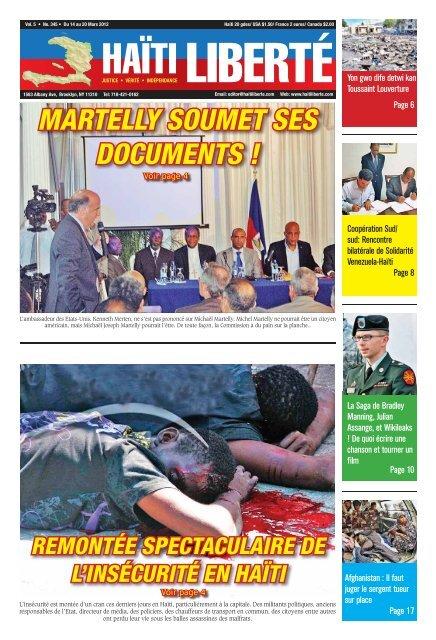Haiti Liberte 14 Mars 2012
