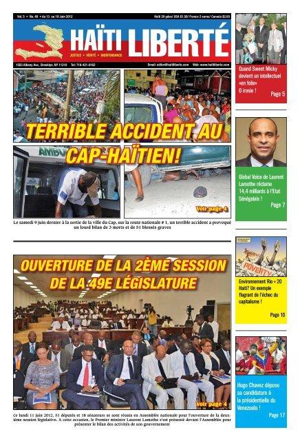 Haiti Liberte 13 Juin 2012