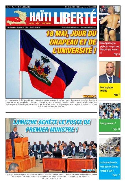 Haiti Liberte 16 Mai 2012