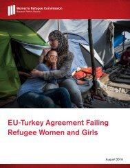 EU-Turkey Agreement Failing Refugee Women and Girls