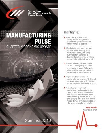 MANUFACTURING PULSE