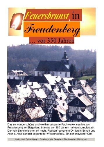 Freudenberg im Siegerland - Stadtbrand einst