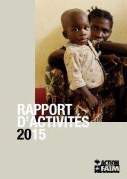 RAPPORT D'ACTIVITÉS 2015