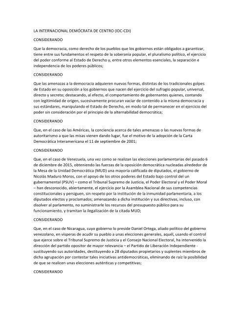 Ex Presidente Andrés Pastrana denuncia recorte de libertades en Venezuela y Nicaragua