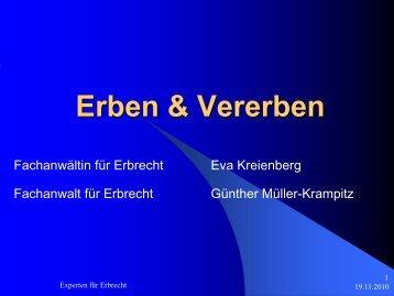 Erben & Vererben - SBR-Telekom-Neustadt
