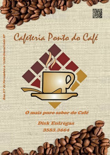 ARTE CARDAPIO 2016 PONTO DO CAFE