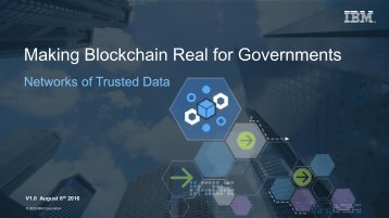 Making Blockchain Real for Governments
