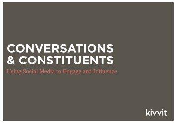 CONVERSATIONS & CONSTITUENTS