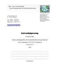 Vertrags - Sachverständigenbüro für Immobilienbewertung - Schmidt