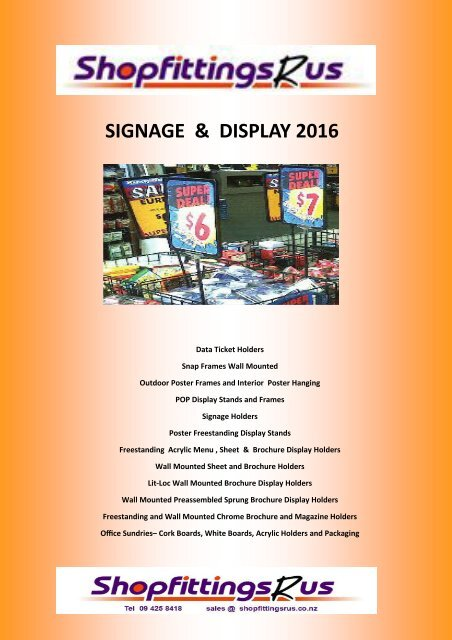 Slatwall Leaflet Holder Retail Brochure Dispenser A4 Leaflet Menu Display Size