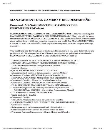 papers de gestion de cambio