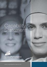 SurgicalPerformance Capability Statement