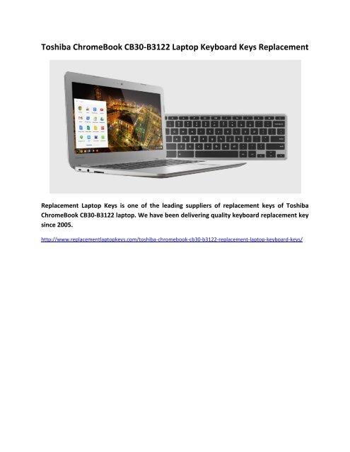 Toshiba ChromeBook CB30-B3122 Laptop Keyboard Keys Replacement