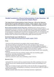 Russia Syskonsyninskoye Project Panorama - Oil and Gas Upstream Analysis Report