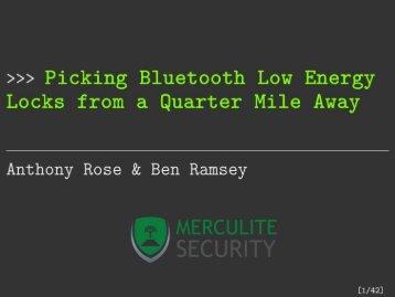 DEFCON-24-Rose-Ramsey-Picking-Bluetooth-Low-Energy-Locks