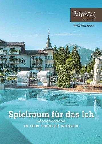 Posthotel Achenkirch Infoheft