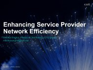 Enhancing Service Provider Network Efficiency