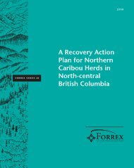 A Recovery Action Plan for Northern Caribou Herds in ... - FORREX