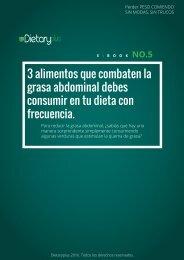 Dietarypluls. 3 ALIMENTOS PARA ELIMINAR LA GRASA ABDOMINAL