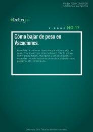 Dietaryplus. COMO BAJAR DE PESO EN VACACIONES