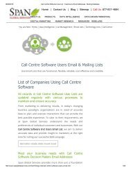 Get Tele Verified List of Call Centre Software using Companies from Span Global Services
