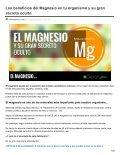 Dietaryplus. LOS BENEFICIOS DEL MAGNESIO Y SU SECRETO OCULTO - Page 2