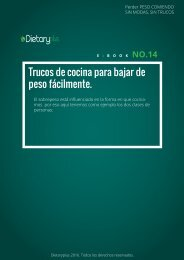 Dietaryplus. TRUCOS DE COCINA PARA BAJAR DE PESO FACILMENTE