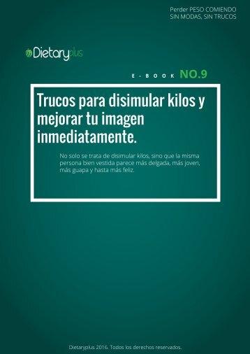 Dietaryplus. TRUCOS PARA DISIMULAR KILOS