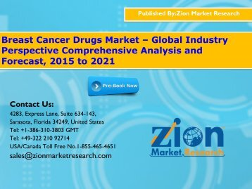 Breast Cancer Drugs Market – Global Industry Perspective Comprehensive Analysis and Forecast, 2015 to 2021