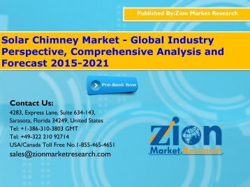 Solar Chimney Market - Global Industry Perspective, Comprehensive Analysis and Forecast 2015-2021