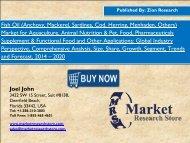 Global fish oil market will Grasp USD 2.93 Billion by 2020