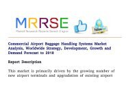 Commercial Airport Baggage Handling Systems Global Market Trends, Emerging Growth and Forecast By 2018