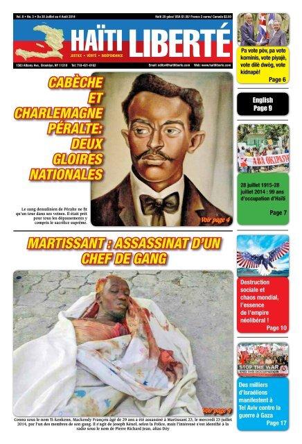 Haiti Liberte 30 Juillet 2014