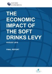 THE ECONOMIC IMPACT OF THE SOFT DRINKS LEVY