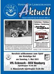 VfLAktuell_13_10/11 - VfL Ecknach