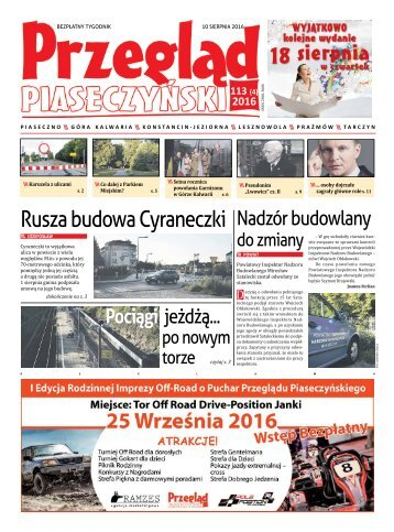 Przegląd Piaseczyński, Wydanie 113
