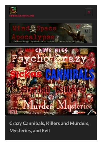 Killers, Crime, and Cannibals