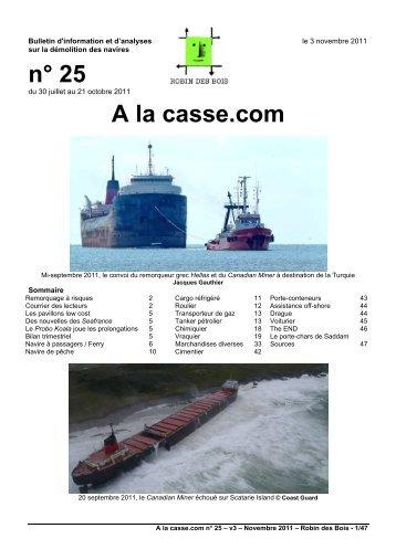 n° 25 A la casse.com - Robin des Bois