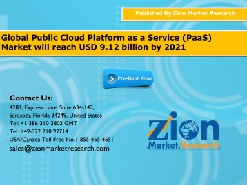 Public cloud platform as a service market