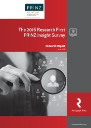 The 2016 Research First PRINZ Insight Survey